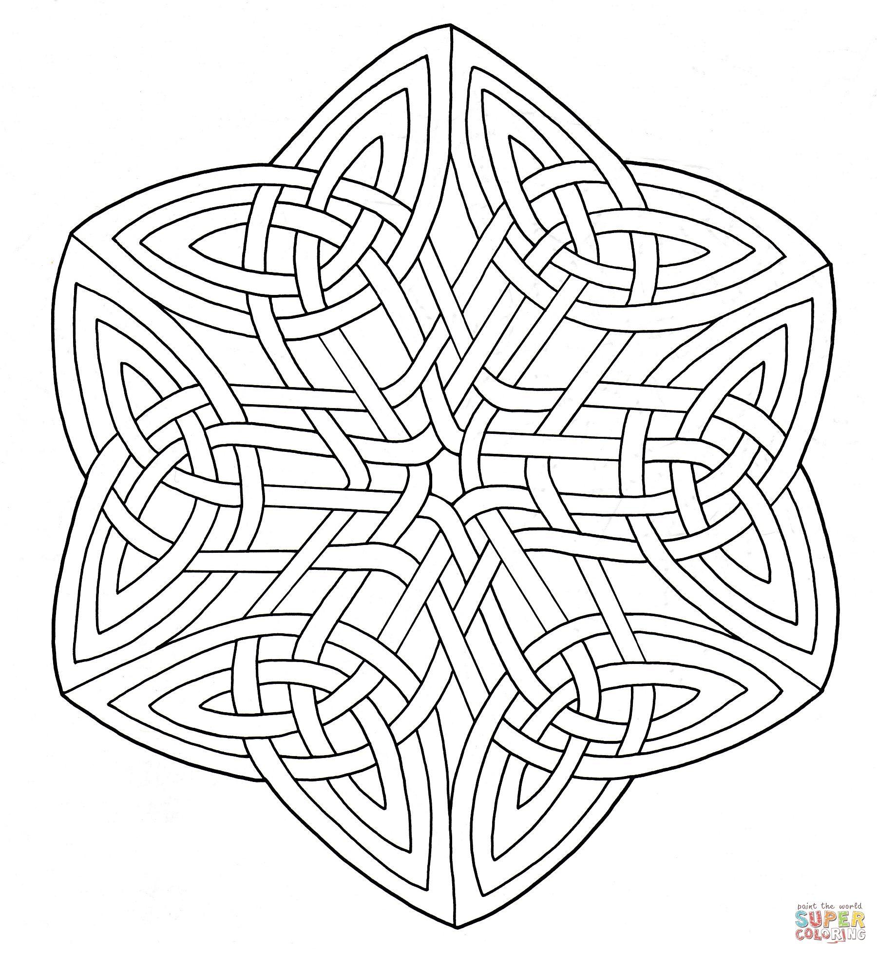 Celtic Knotwork | Super Coloring | Mandala Coloring | Pinterest ...
