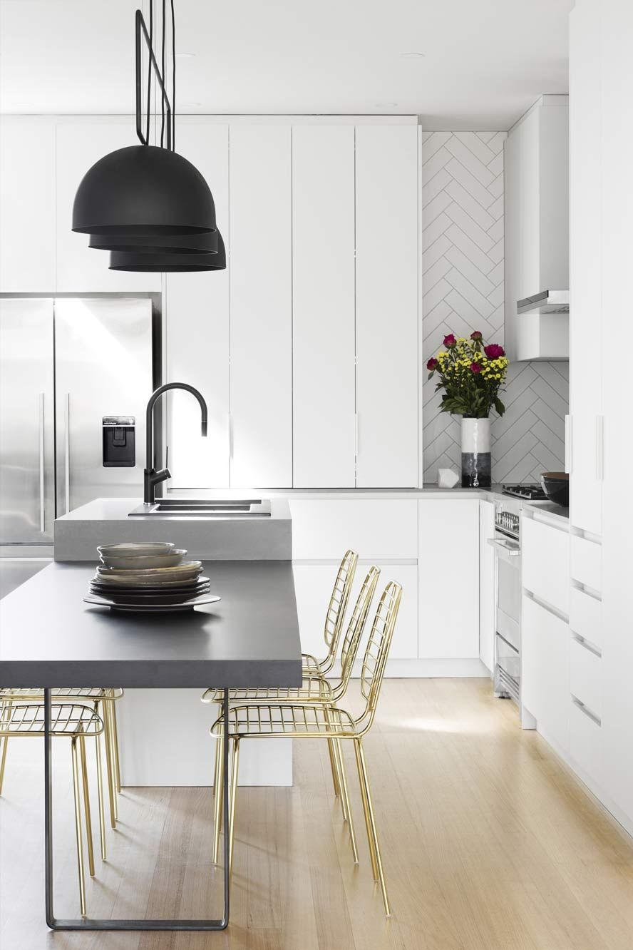 White With Soft Grey Accent, Modern Kitchen. NORTH MELBOURNE   Bathroom And Kitchen  Renovations