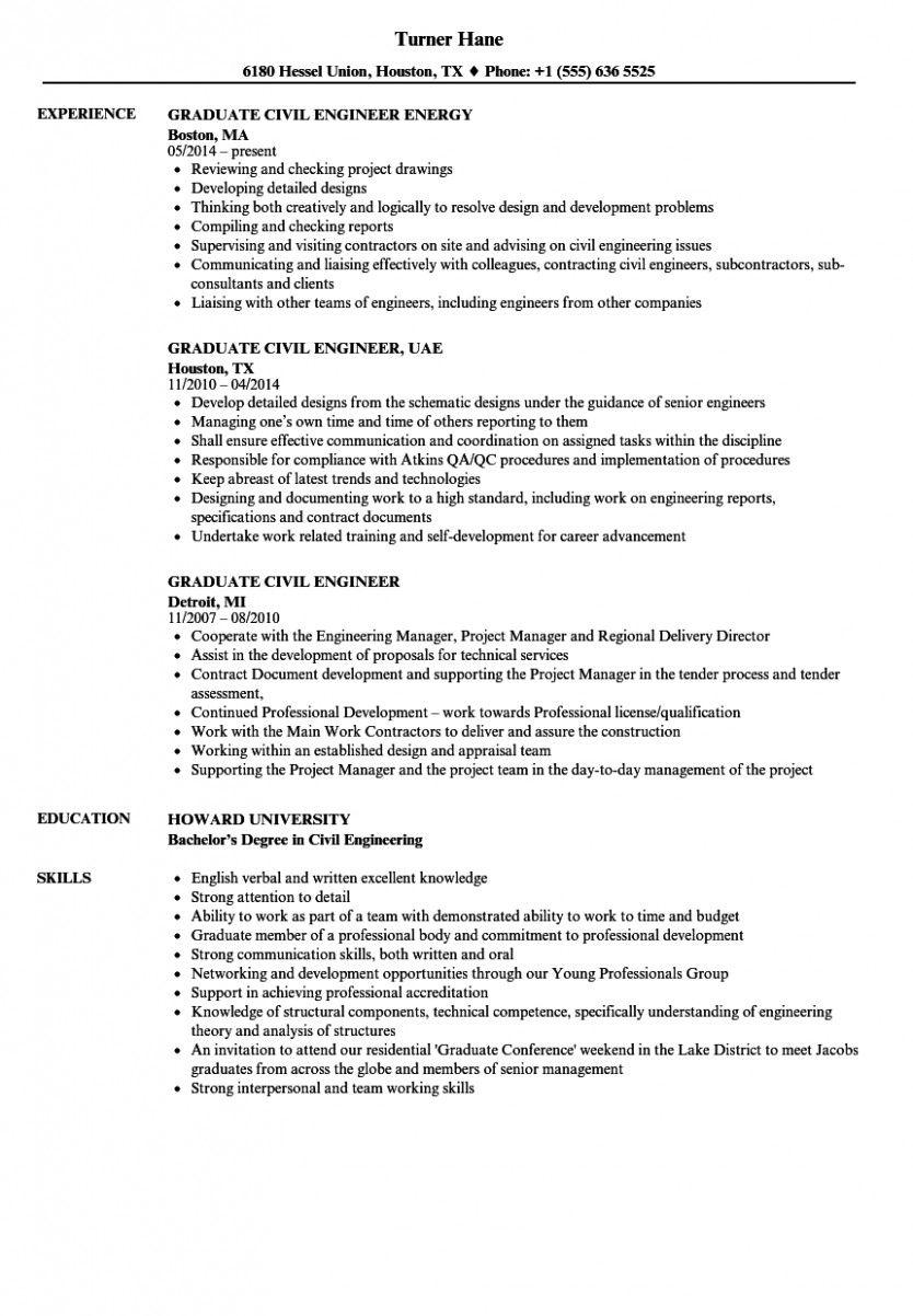 15 Civil Engineer Resume 1 Year (2020)