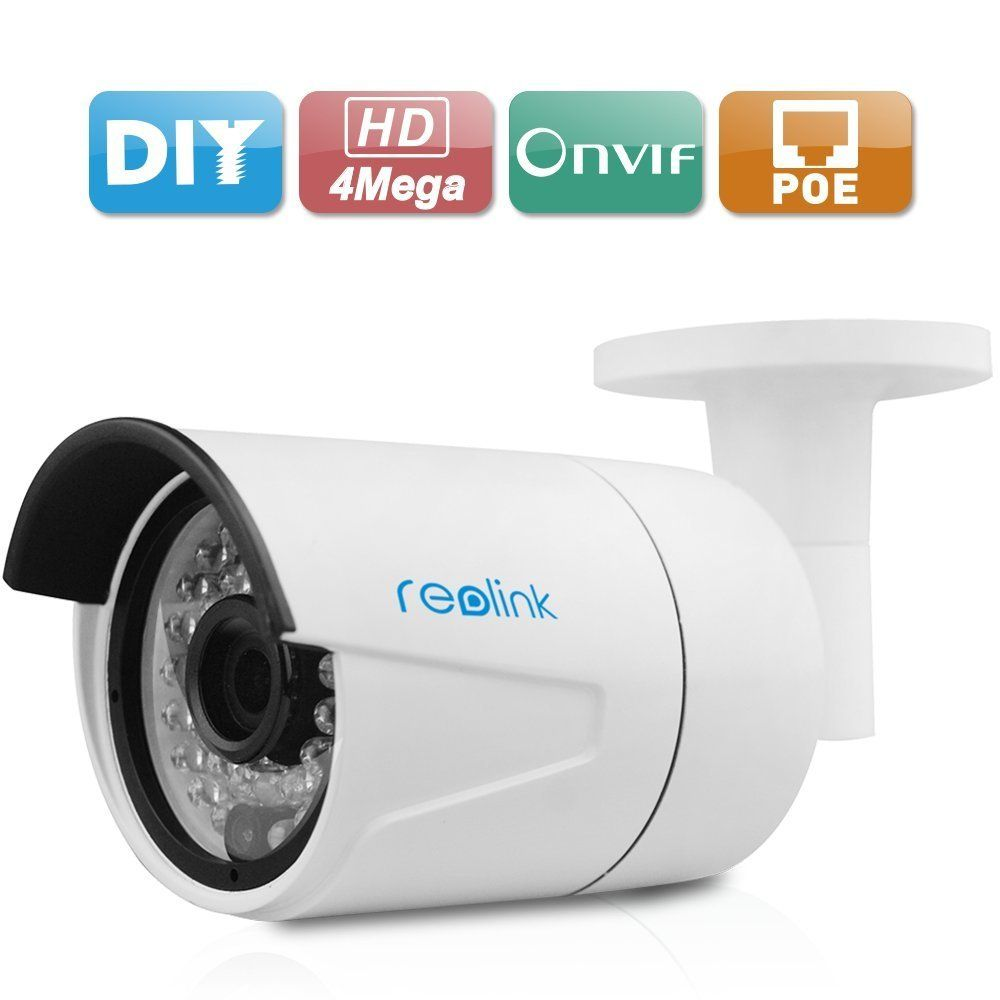 Reolink RLC-410 4MP 1440P Bullet 36 IR Light 3.6mm Lens with POE ...