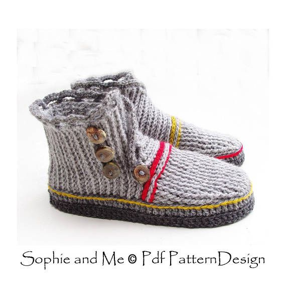 E-Book Wrap and Button Adult Booties - and No poke Flip-Flop Soles ...