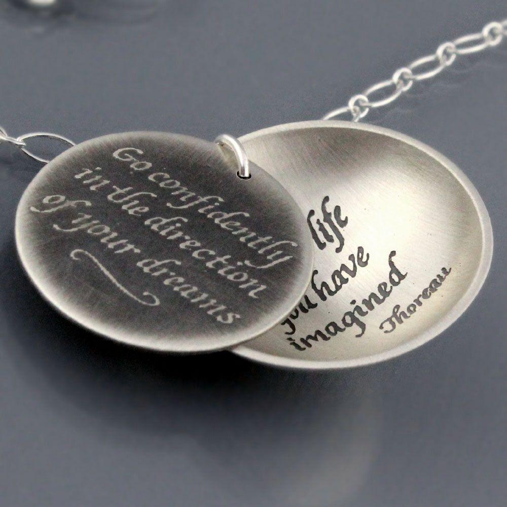Silver Thoreau Necklace - Made to Order. $168.00, via Etsy.