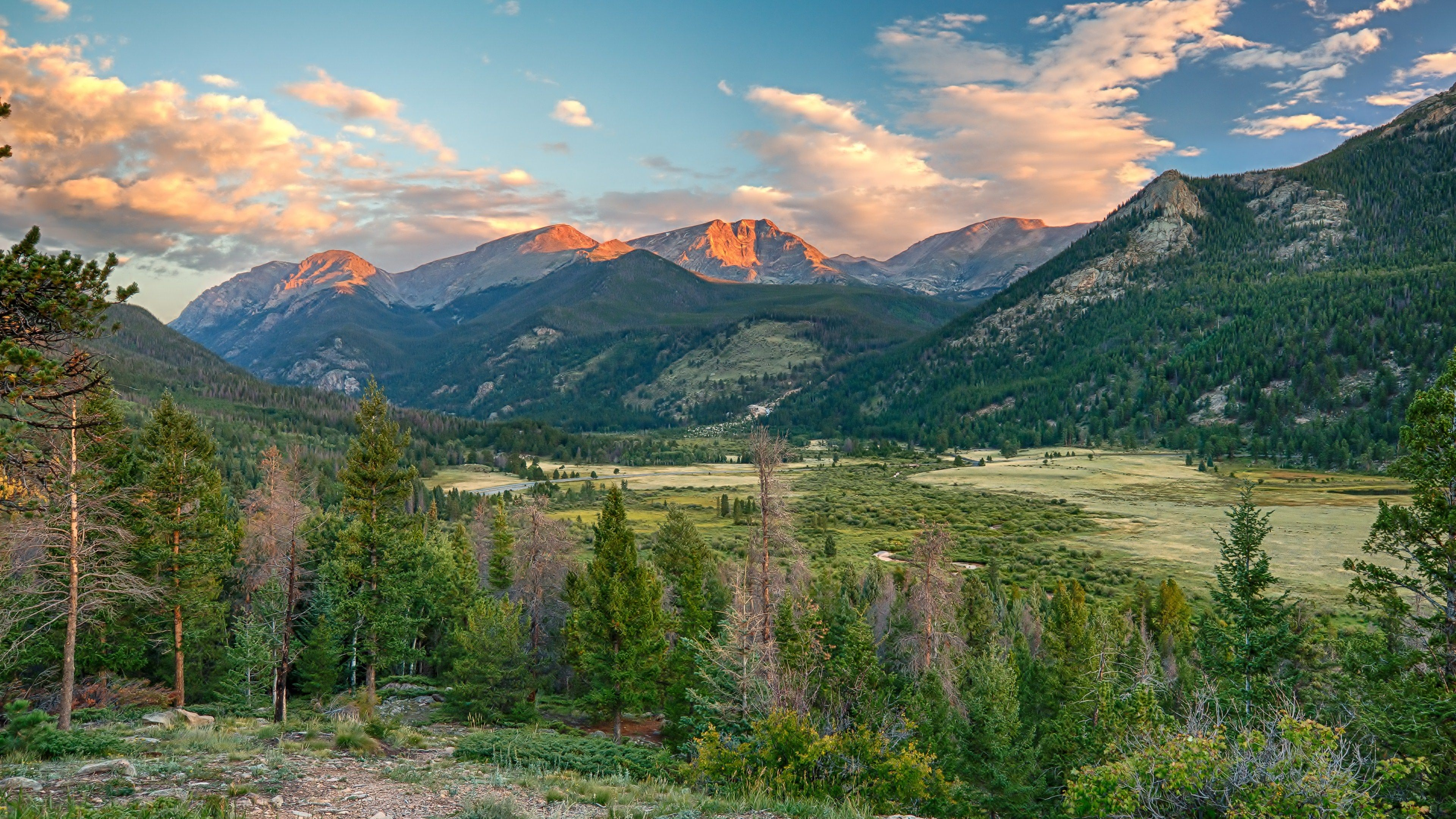 Pin By Jill On Fondos De Pantalla Pc In 2020 Landscape Wallpaper Sunrise Pictures Rocky Mountain National Park