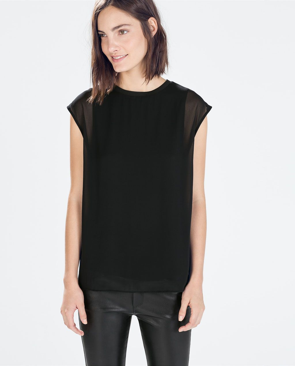 493af83fc18f8 simple   chic  SLEEVELESS TOP from Zara - under  75