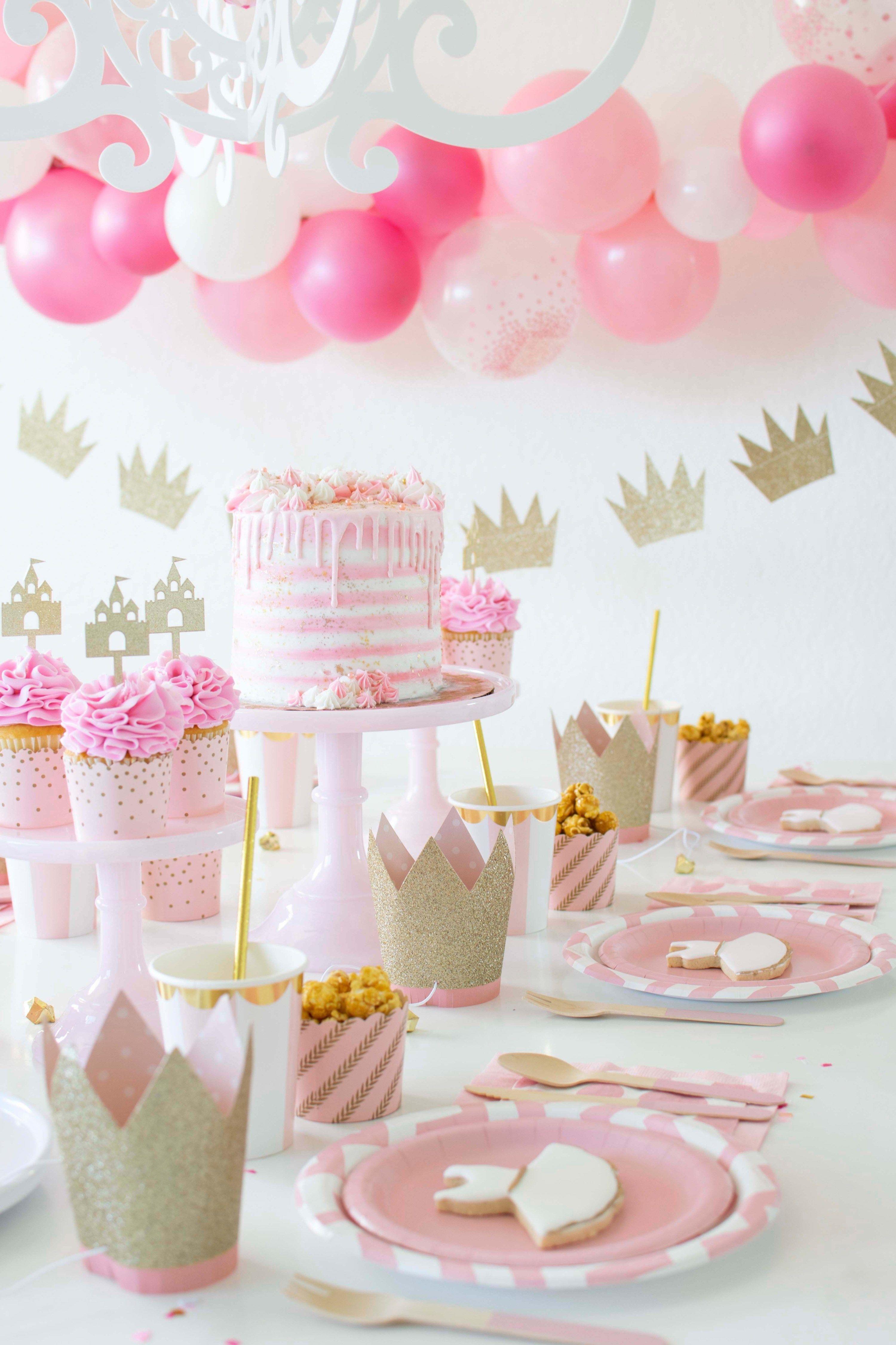 A Sweet Pink Gold Ballerina Princess Inspired Party Princess Theme Birthday Party Princess Theme Party Princess Tea Party