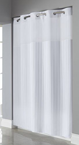 Hookless Rbh35my045 Victorian Stripe Shower Curtain Bright White