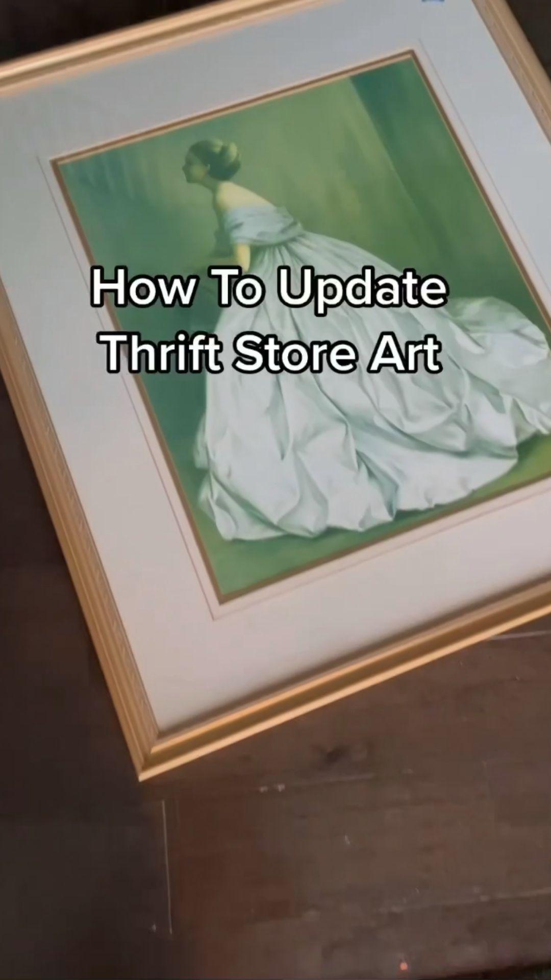 Updating Thrift Store Art