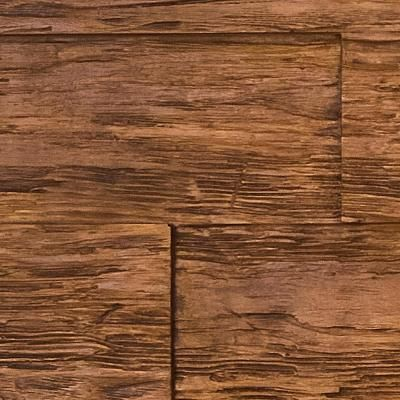 Superior Building Supplies Superior Time Weathered 10 In X 10 In Faux Rustic Panel Siding Sample Custom Walnut Sam Hd Tw23x48 Cw Stone Siding Panels Faux Stone Siding House On The Rock