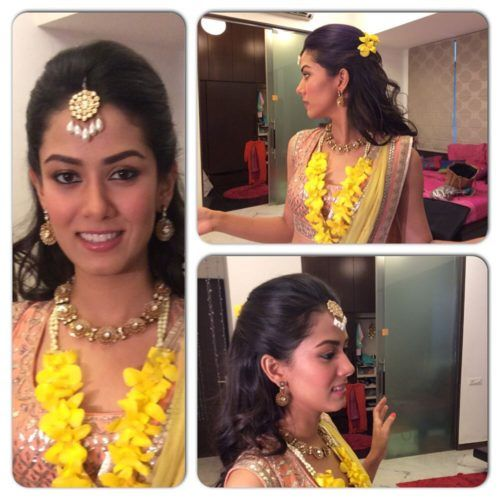 Indian Bridal Hairstyle For Shoulder Length Hair Coupe Courte Idees De Coiffures Coiffures Couronne Tressee