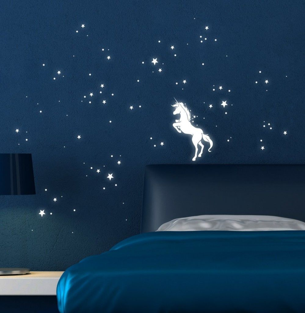 unicorn with luminous stars http wallartkids com unicorn wall fantastic unicorn wall stickers find the perfect one for you