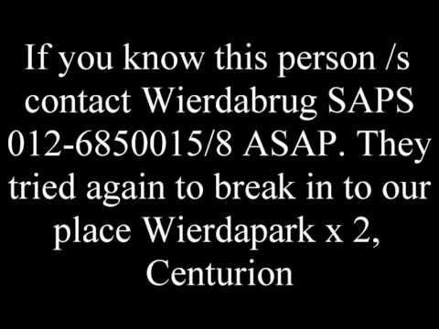 Wierda Park attempted break in