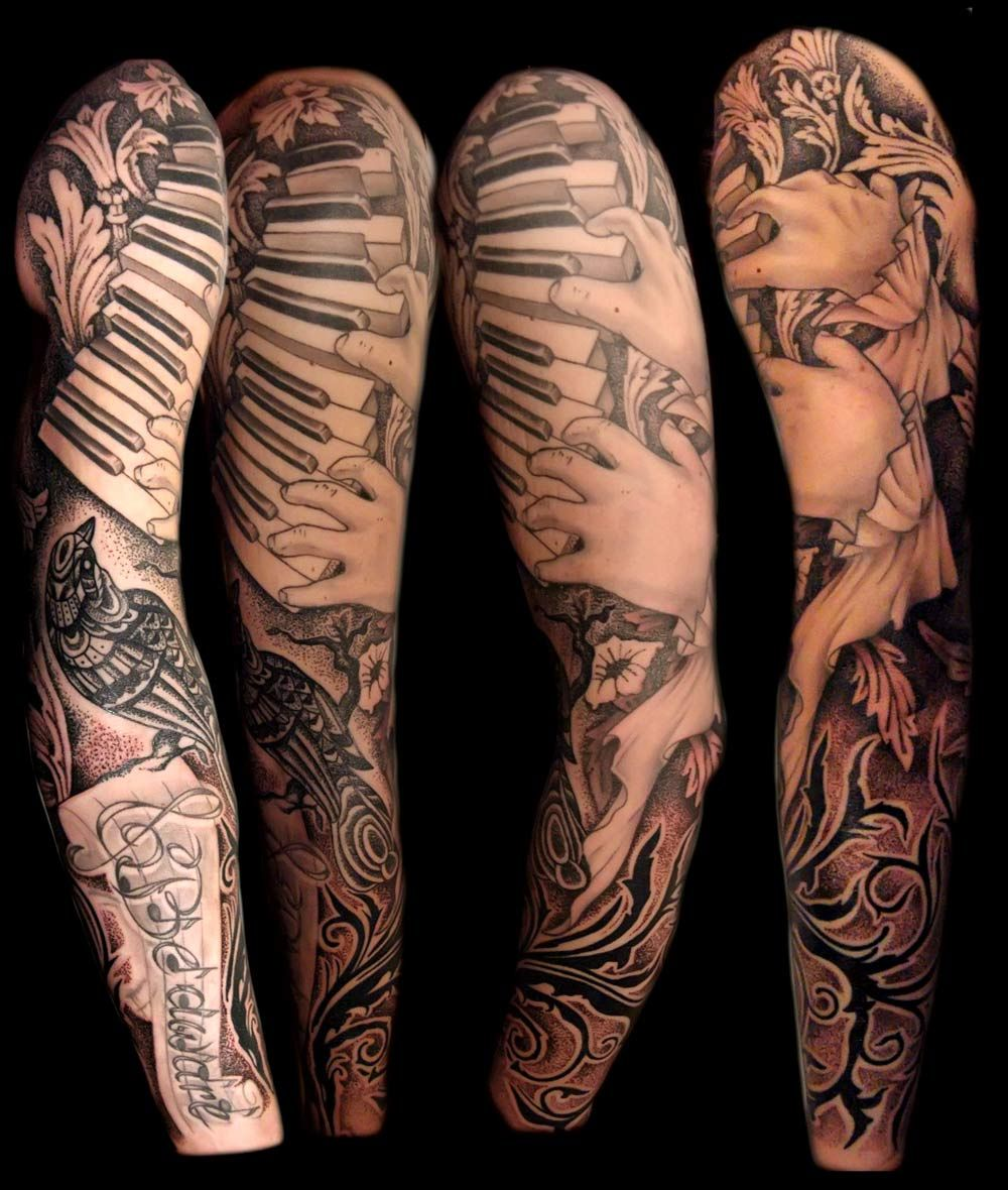 13+ Amazing Music tattoo ideas sleeve ideas in 2021