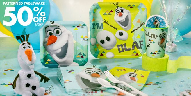 Frozen Olaf Party Supplies Olaf Birthday Ideas Party City Baby