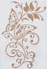 Wandschablonen Schablone Wandtattoo Ornament Blumen Schmetterling Xl Wandschablonen Wandtattoo Ornamente Schablonen