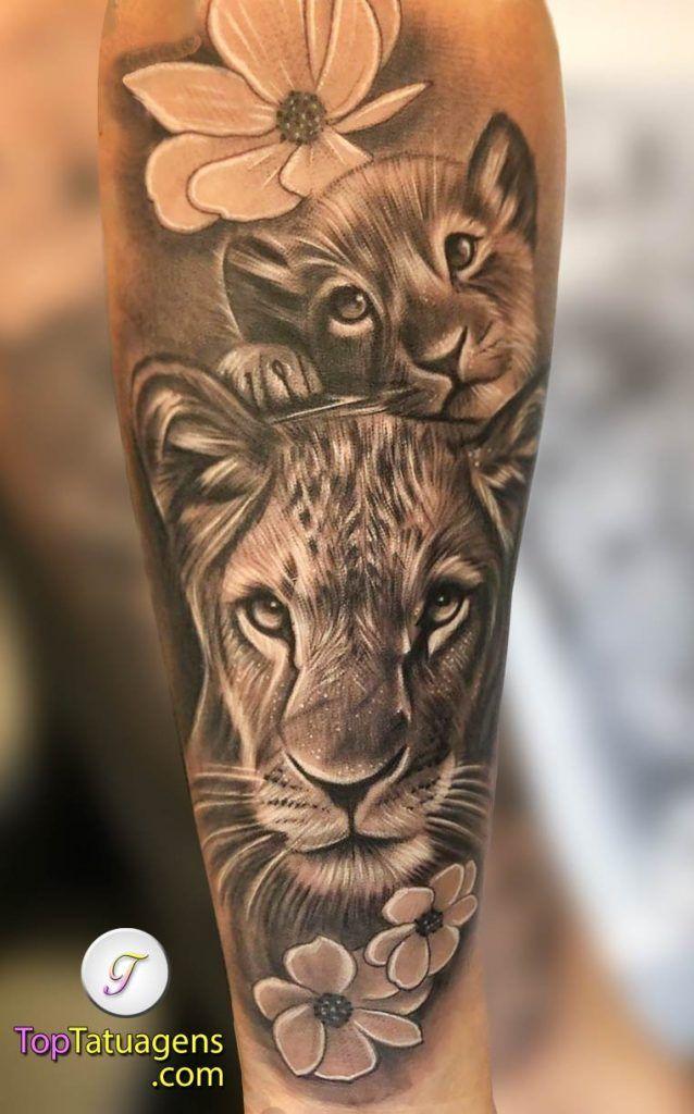 Photo of 70 Tatuagens de leão Femininas e Masculinas | TopTatuagens