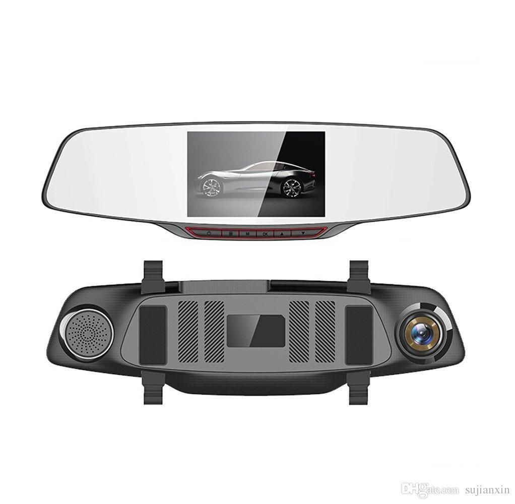 H802 Car DVR Dash Cam Dual lens Rearview Mirror 5 0