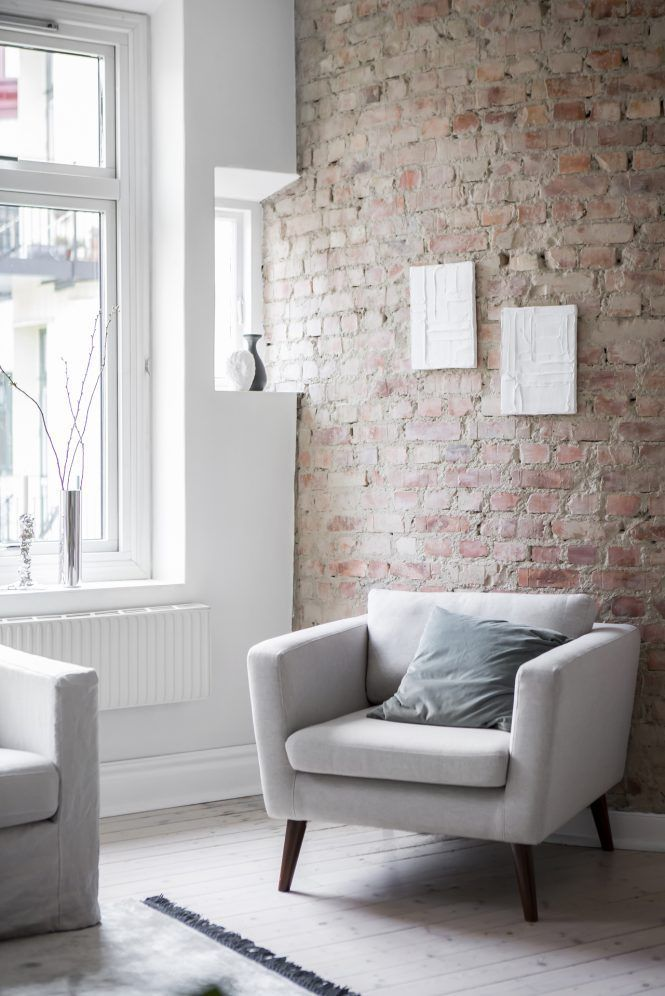 Paredes De Ladrillo, Un Cálido Contraste A Las Paredes Blancas | Interiors