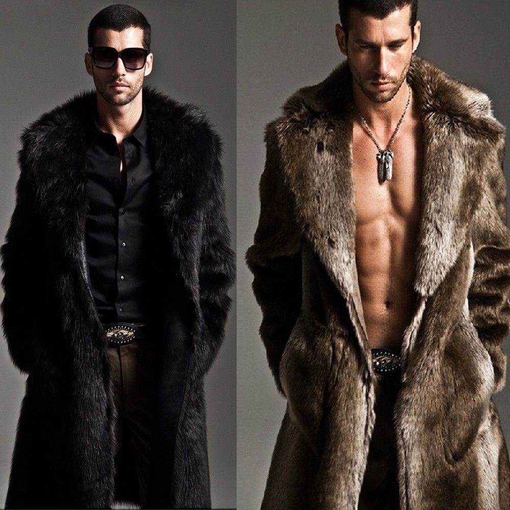 Mens jacket fur - Mens Fur Coat Ebay