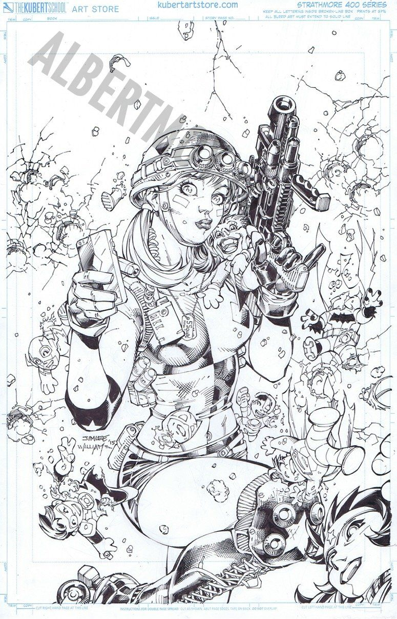 Albert Moy : Original Comic Art - Justice League by Jim Lee | DCV ...