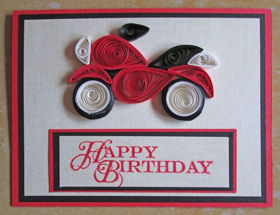 Paper quilling designs for birthday cards husband