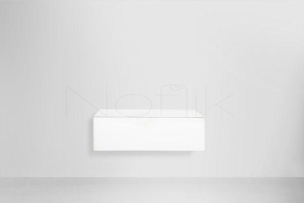 Lomini - zwevend compact design TV-meubel wit