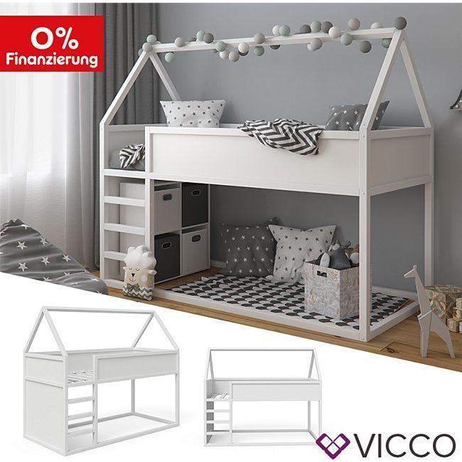 Vitalispa Haus Pinocchio Hochbett Spielbett Kinderbett Jugendbett 90 X 200 Cm Weiss Online Kau In 2020 Cabin Beds For Kids Childrens Cabin Beds Loft Bed