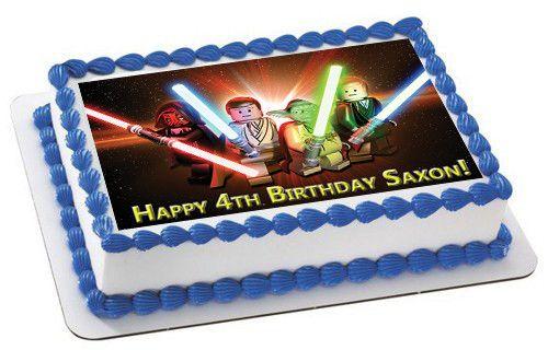 Lego Star Wars 3 Edible Birthday Cake Topper Or Cupcake Topper