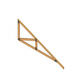 Lean To Roof Truss Revit Model 3d Architectural Cad Models Lean