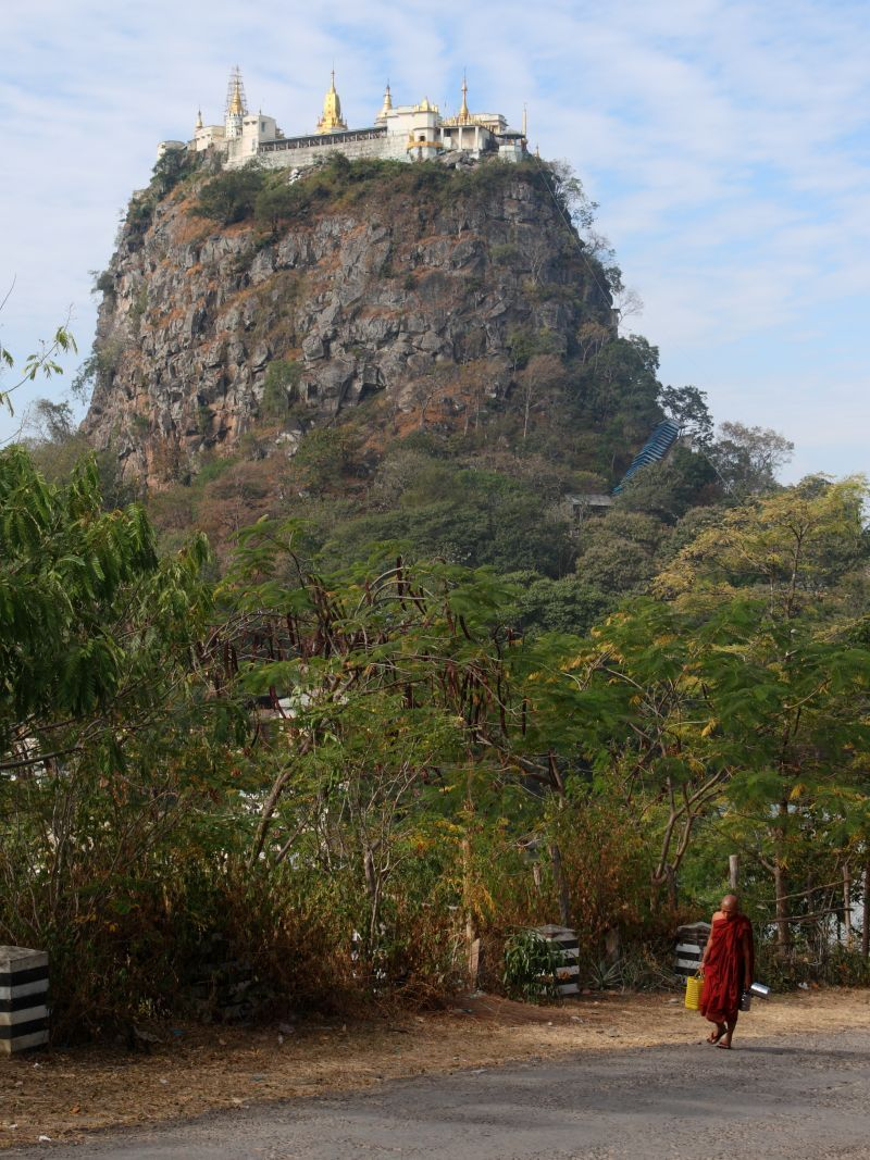 Buddhist monastery on Taung Kalat southwest of Mount Popa. Photo by Ed Brambley. http://www.flickr.com/photos/26474941@N00/4259508895