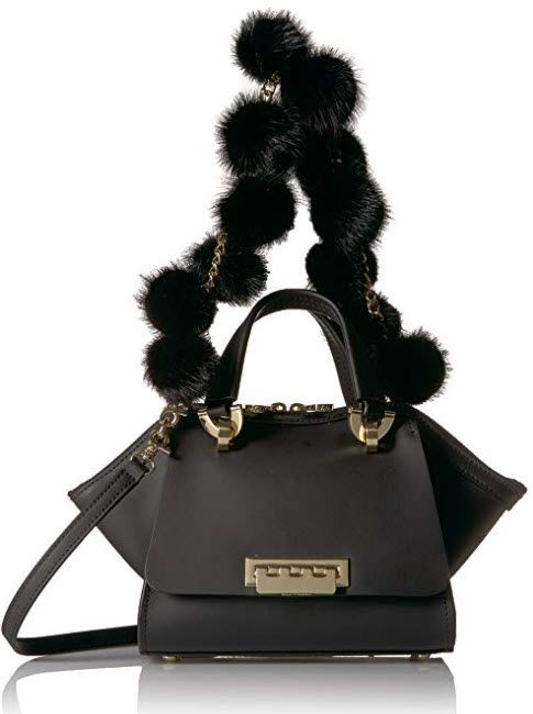 Zac Zac Posen Eartha Iconic Mini Double Handle Fur Pom