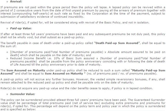 LIC's Delhi Jeevan Lakshya Table 833 Details Benefits ...