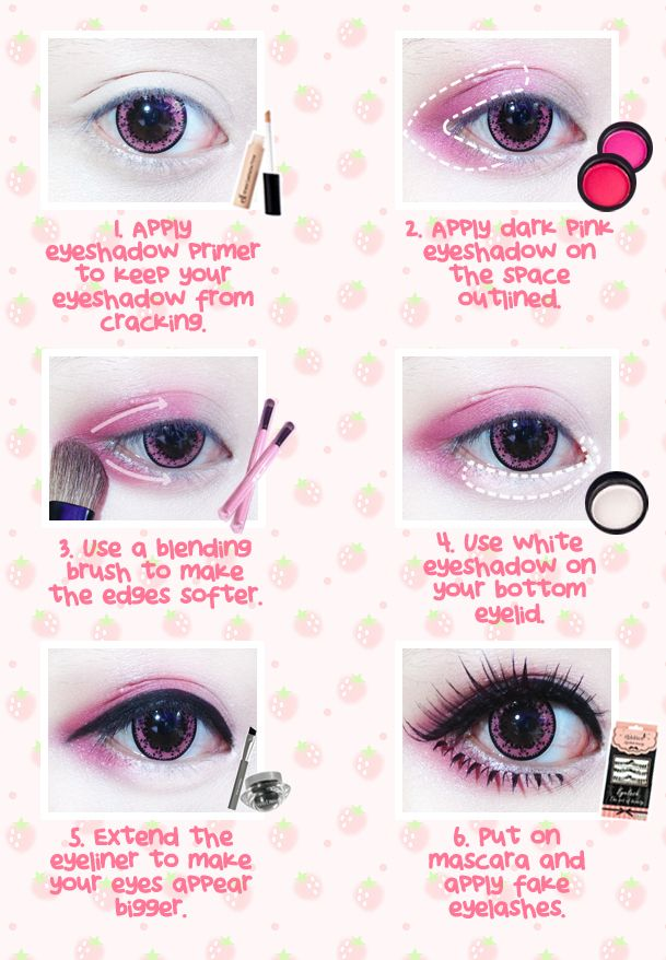 Pin By Kalie Taylor On Makeup Kawaii Makeup Tutorial Anime