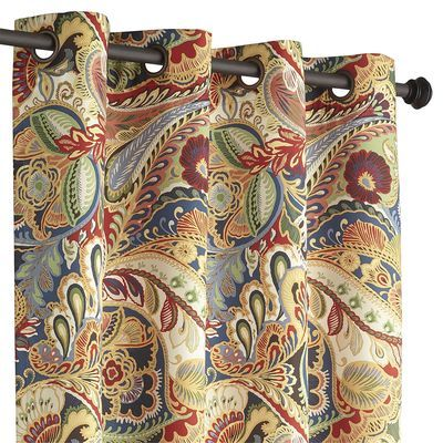 Vibrant Paisley Grommet Top Curtain 96 Pier 1 Idea For Kitchen Does Not Come In Valance