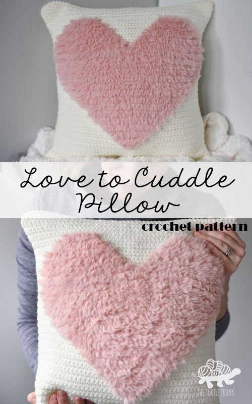 Love to Cuddle Pillow Crochet Pattern - Crochet Pillow - Crochet Home Decor - Digital PDF Download