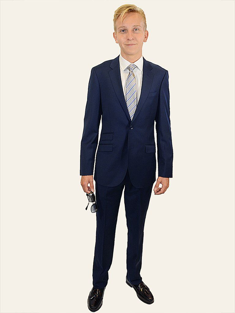 428f76ef0037 Trend by Maxman 17298 Blue Skinny Fit Young Man's Suit Separate Jacket -  Solid Gabardine - 100% Tropical Worsted Super 140 Wool - Lined