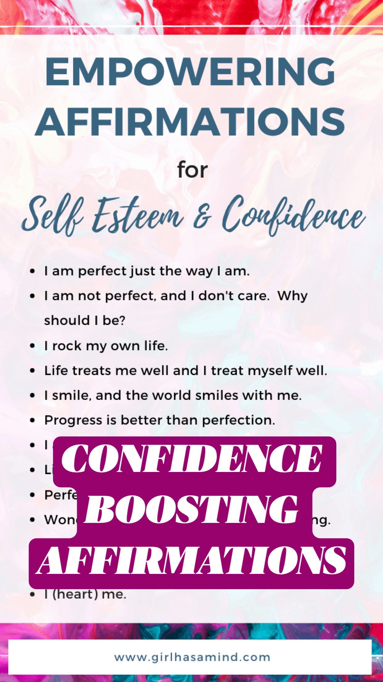 CONFIDENCE BOOSTING AFFIRMATIONS