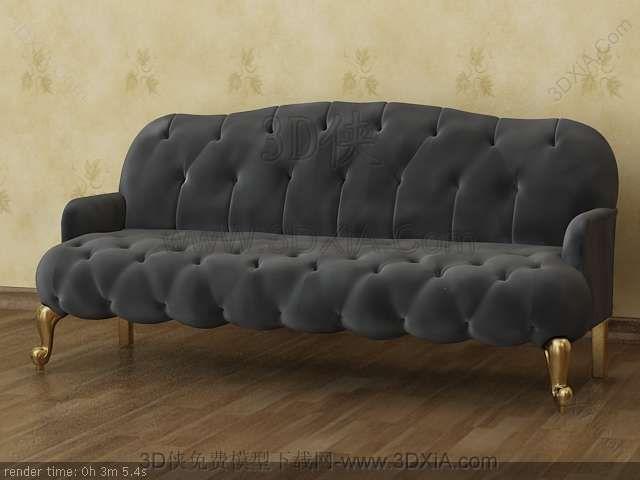 Multiplayer Cloth Art Sofa 3D Models
