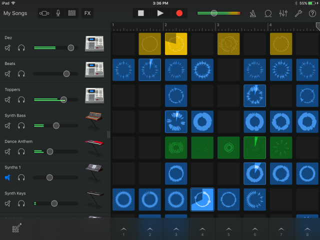Apple GarageBand Review iOS 2.1 with Live Loops & Remix FX