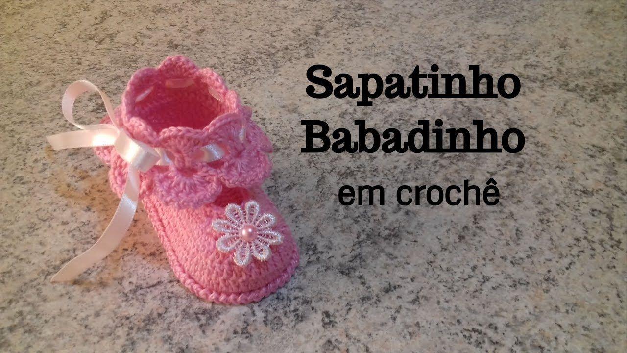 Sapatinho Babadinho em crochê   كروشيه   Pinterest   Sommerschuhe ...