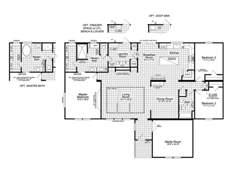 Floor Plan The Vintage Farmhouse Flex Ft47643a By Palm Harbor Homes Palm Harbor Homes Cottage House Exterior Floor Plans