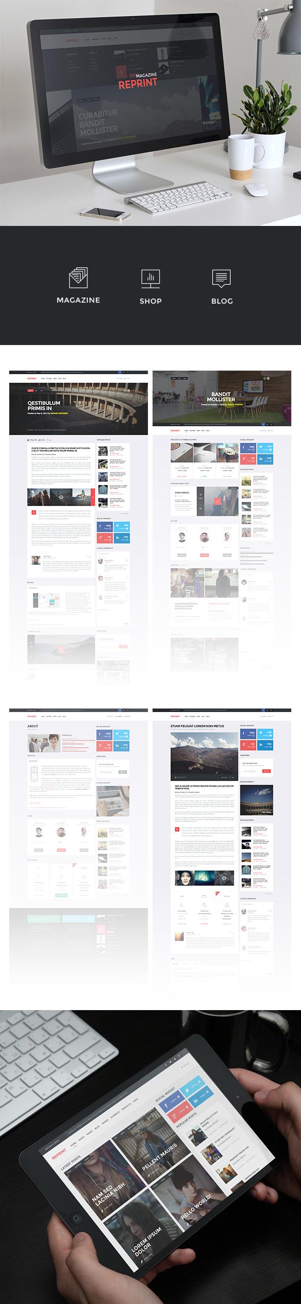 WordPress - REPRINT | Magazine MultiPurpose WordPress Theme | ThemeForest