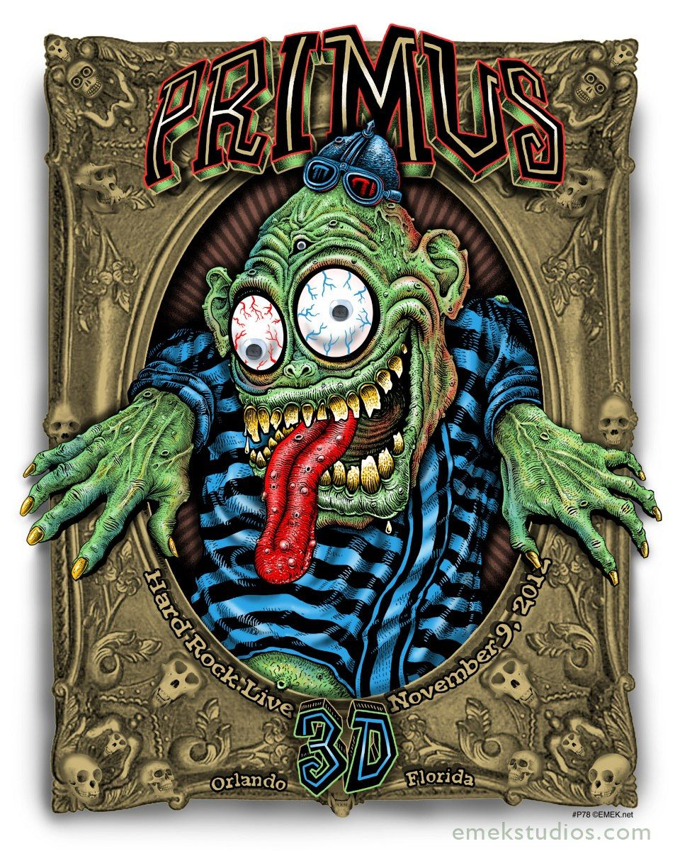 Tonight\'s Primus Poster from Orlando by Emek | Rock posters, Rock ...