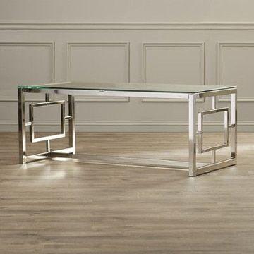 mesas de centro de cristal y acero modernas mesas de centro