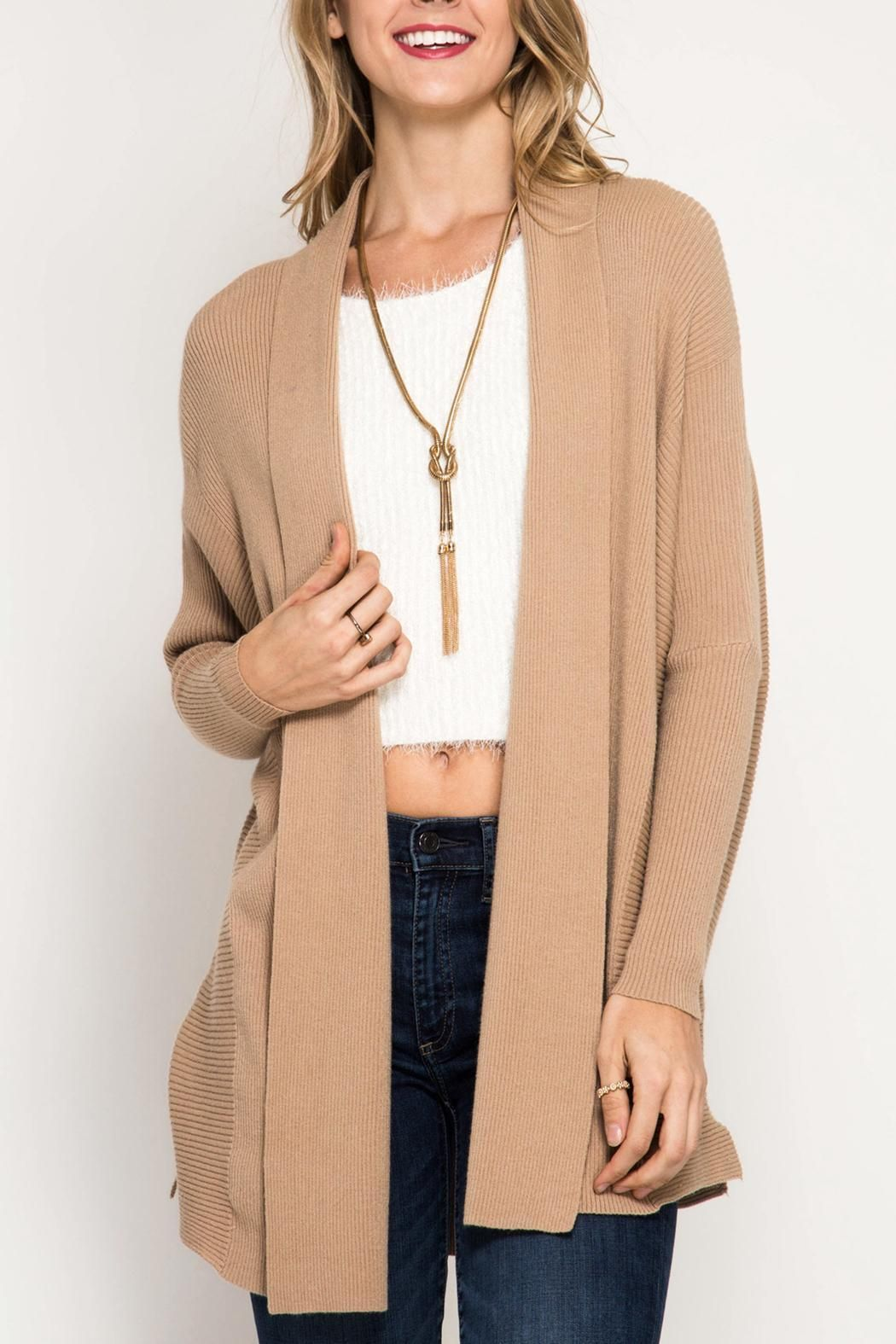 She Sky Ribbed Sweater Cardigan Boutique Highlights Pinterest