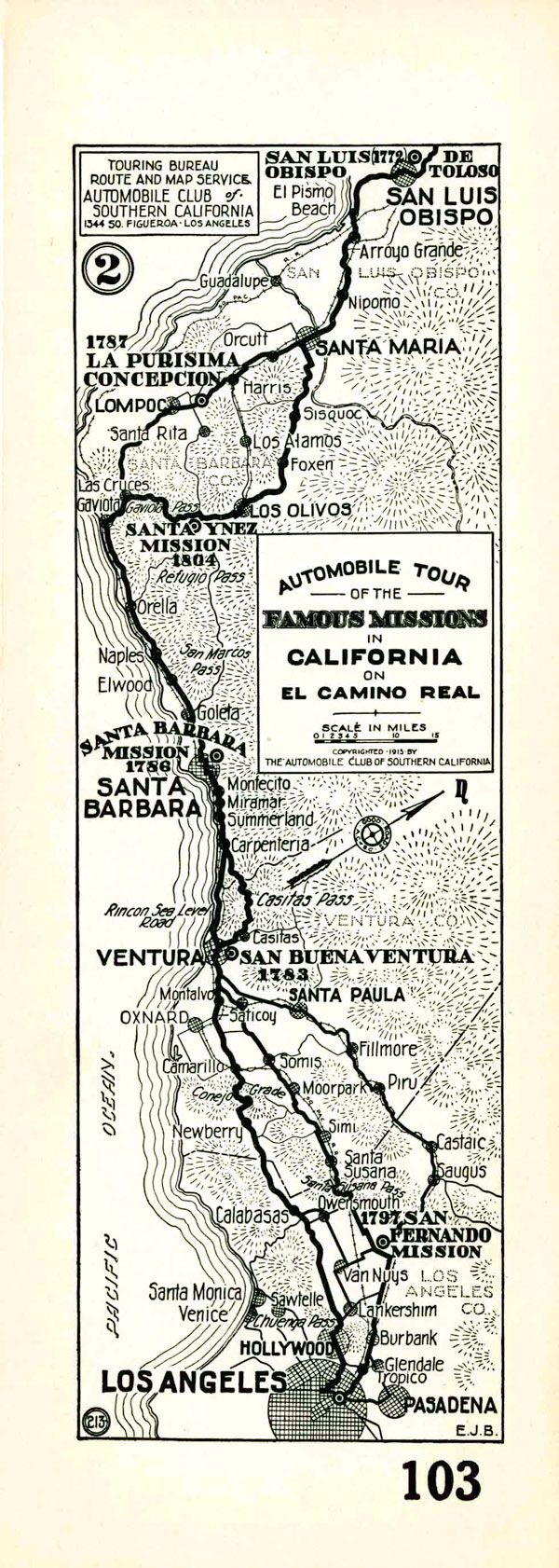 Antique LOS ANGELES MAP Of Los Angeles Black And White - Los angeles route map