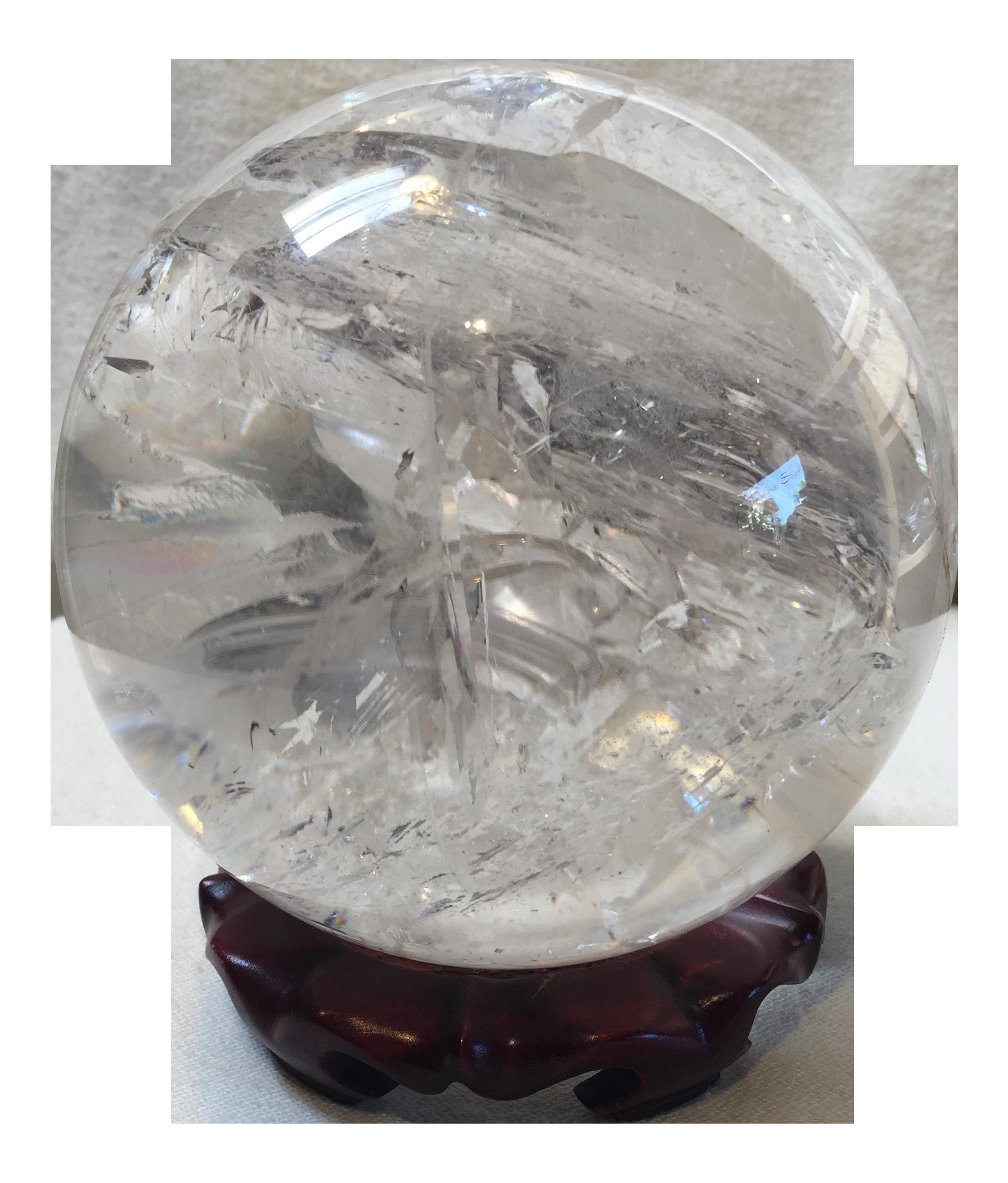 1200 Extra Large Quartz Crystal Ball On Chairish Com Models And Figurines Crystal Ball Crystal Figurines