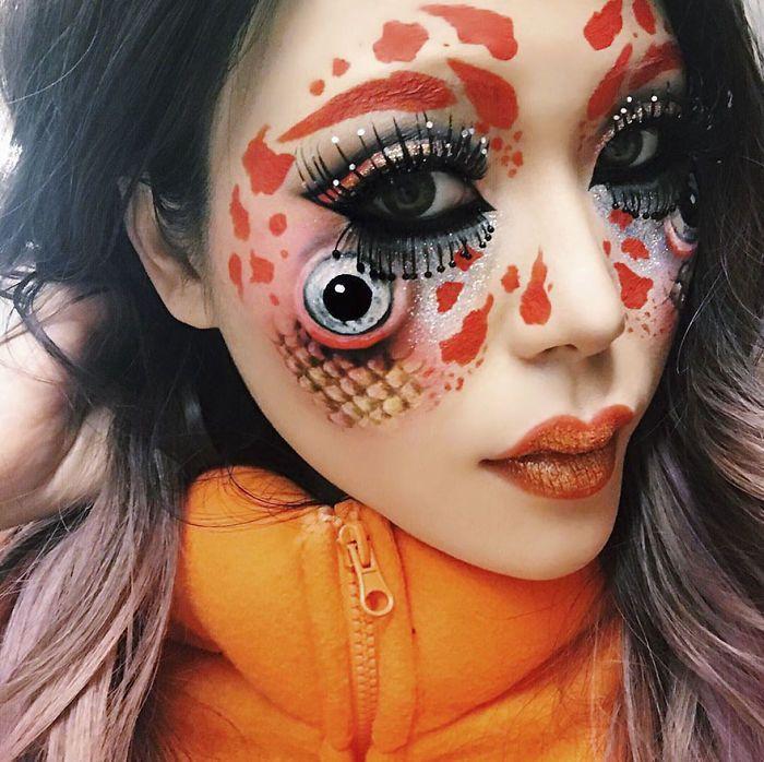Optical Illusion Make Up Mimi Choi Amazing Halloween Makeup Makeup Artistry Makeup