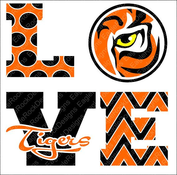 Love Tigers SVG DXF EPS Png Cut File For Cameo and Cricut ...