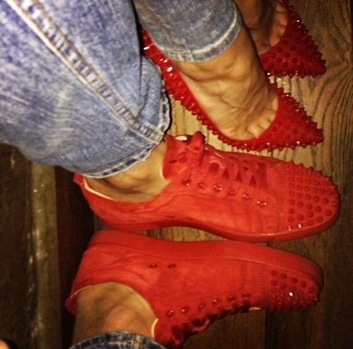 Red couple shoes omfg cute!