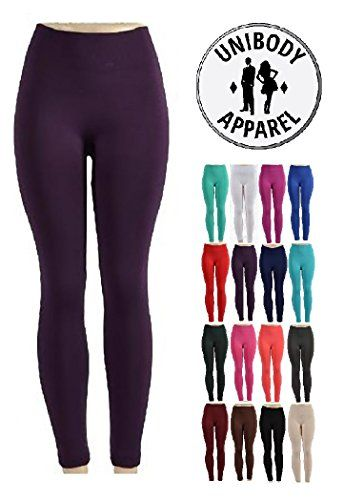 282c34b1ff23eb Unibody Apparel 1 or 6 Pack Soft Fleece Lined Leggings – (Plus Sizes  Available)
